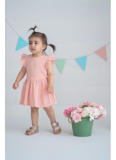 Nila Kids Vintage Rhapsody Organik Muslin Kız Bebek Elbise Pembe